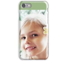 Girl And Frangipanis Flowers iPhone Case/Skin