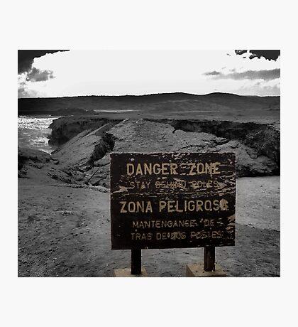 Danger Zone Photographic Print