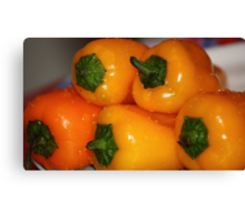fresh yellow peppers Canvas Print