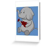 Elephant Loves Her Ukulele  Greeting Card