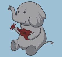 Elephant Loves Her Ukulele  by Dersee