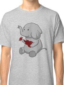 Elephant Loves Her Ukulele  Classic T-Shirt