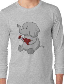 Elephant Loves Her Ukulele  Long Sleeve T-Shirt