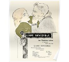 Alphonse Marie Mucha Maillard, Léon Menus and Programs, 1898 0428 L'ame Invisible Thatre Libre Poster