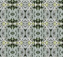 Grey leaf pattern. by Marilyn Baldey