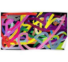 Crazy colors Poster
