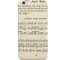 The April Baby's Book of Tunes by Elizabeth art Kate Greenaway 1900 0050 Little Miss Muffet iPhone Case/Skin
