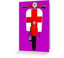 Retro Scooter with St George Cross Decal Greeting Card