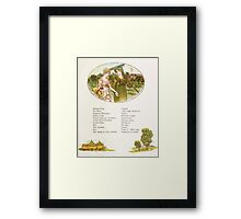 Language of Flowers Kate Greenaway 1884 0027 Descriptions of Specific Flower Significations Framed Print