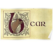 B is for Bear Manuscript Page Poster