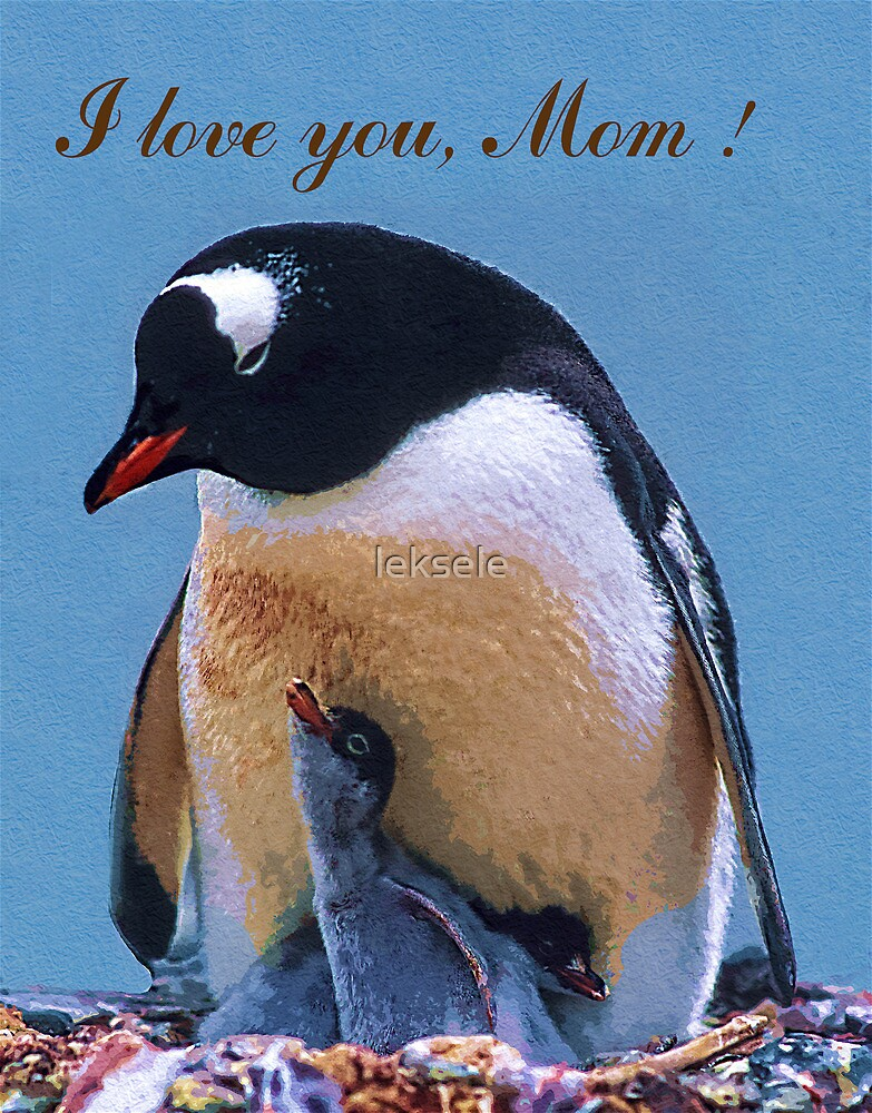 Mother's day greeting card by leksele