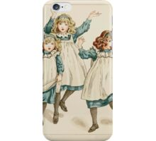The April Baby's Book of Tunes by Elizabeth art Kate Greenaway 1900 0046 The Strains of Polly Flinders iPhone Case/Skin