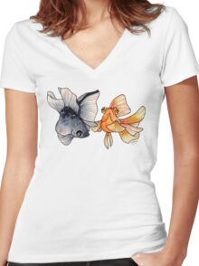 Goldfishes Women's Fitted V-Neck T-Shirt