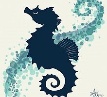 Seahorse Silhouette  by Amber Marine