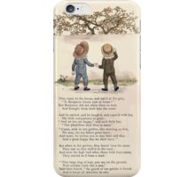 LIttle Ann and Other Poems by Jane and Ann Taylor art Kate Greenaway 1883 0014 Two Boys and an Apple Tree iPhone Case/Skin