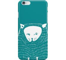 Cat in the circle  illustration with textures iPhone Case/Skin