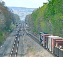 Westbound From Selkirk Train Yard - New York © 2010 by Jack McCabe