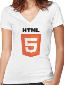 HTML 5 Women's Fitted V-Neck T-Shirt