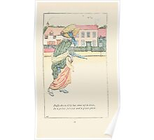 Mother Goose or the Old Nursery Rhymes by Kate Greenaway 1881 0020 Duffy Down Dilly Poster