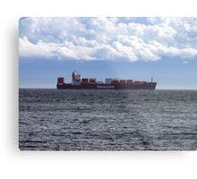 Container Ship off Cordova Bay Metal Print