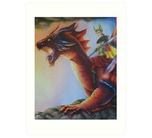 Earth Dragon - Black Book of Arda Art Print