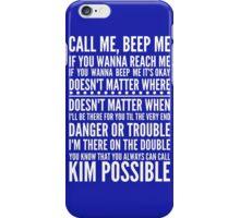Call me, beep me in white iPhone Case/Skin