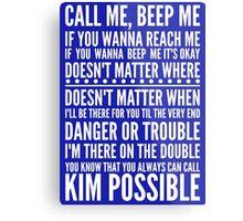 Call me, beep me in white Metal Print