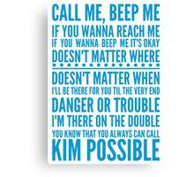 Call me, beep me Canvas Print