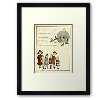 The Glad Year Round for Boys and Girls by Almira George Plympton and Kate Greenaway 1882 0065 Christmas Bells Ringing Framed Print