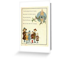 The Glad Year Round for Boys and Girls by Almira George Plympton and Kate Greenaway 1882 0065 Christmas Bells Ringing Greeting Card