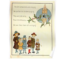 The Glad Year Round for Boys and Girls by Almira George Plympton and Kate Greenaway 1882 0065 Christmas Bells Ringing Poster