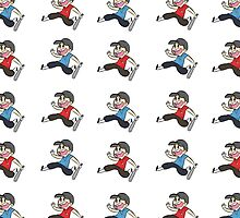 TF2 Red and Blu Scout Pattern and Sticker Sheet by Skitty Vasquez