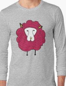 graphical illustration of sheep Long Sleeve T-Shirt