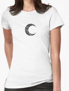 Moon Knight - Classic Symbol - Black Dirty Womens Fitted T-Shirt