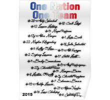 One Nation One Team | USWNT (version 2) Poster