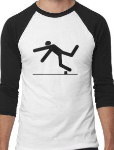 Tripped, Tripping Man Icon Men's Baseball ¾ T-Shirt