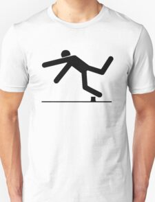 Tripped, Tripping Man Icon Unisex T-Shirt
