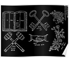 New Sample Book of Our Artistic Perforated Parchment Stamping Patterns Kate Greenaway, John Frederick Ingalls 1886 0155 Inverted Poster