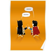 "Superhero Cut ""Break time"" Poster"