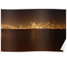 San Francisco City Lights Poster