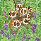 Loris Monkey Family by Ruta Dumalakaite