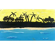 Painted Palms Photographic Print
