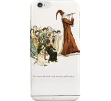 The Pied Piper of Hamlin Robert Browning art Kate Greenaway 0044 Wonderful Music and Shouting Laughter iPhone Case/Skin