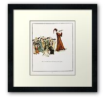 The Pied Piper of Hamlin Robert Browning art Kate Greenaway 0044 Wonderful Music and Shouting Laughter Framed Print
