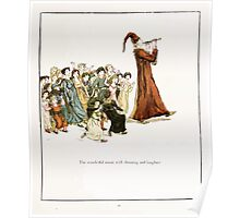 The Pied Piper of Hamlin Robert Browning art Kate Greenaway 0044 Wonderful Music and Shouting Laughter Poster