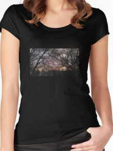 Morning Through the Trees Women's Fitted Scoop T-Shirt