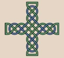 Celtic Cross in Green and Blue by taiche