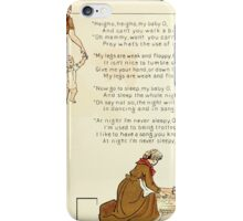The Glad Year Round for Boys and Girls by Almira George Plympton and Kate Greenaway 1882 0031 Heigho My Baby O iPhone Case/Skin