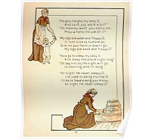 The Glad Year Round for Boys and Girls by Almira George Plympton and Kate Greenaway 1882 0031 Heigho My Baby O Poster