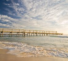 Morning at the sand pumping jetty, Gold Coast, Australia by Lisa Walker
